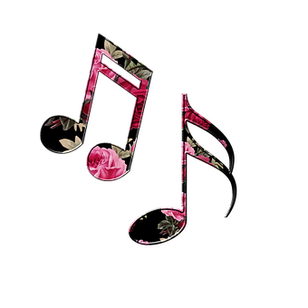 Music Notes Floral Musical Notes Musi