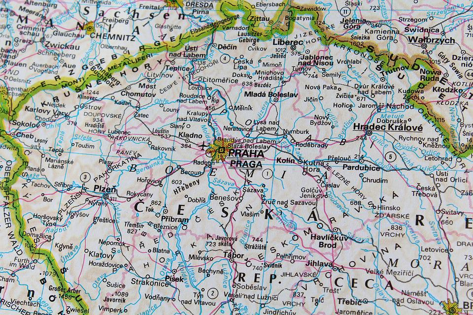 Prague Czech Republic Map · Free photo on Pixabay