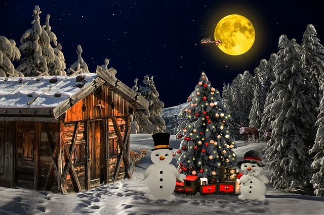 christmas landscape free image on pixabay. Black Bedroom Furniture Sets. Home Design Ideas