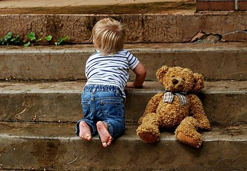 Niño, La Infancia, Medidas, Peluche