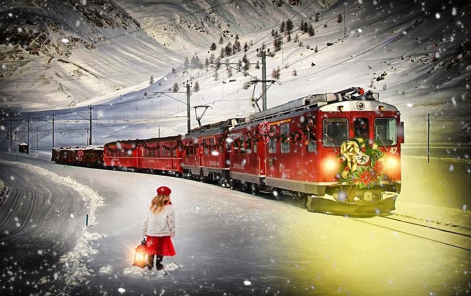 Expreso Polar, Tren, Tren De La Navidad, Niña, Navidad