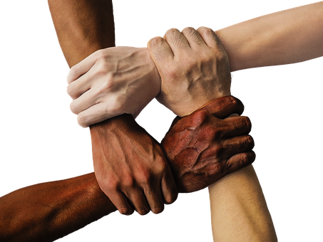 Hand, United, Together, People, Unity