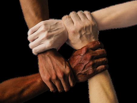 Kädet, Tiimi, Yhtenäinen, Yhdessä