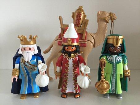Playmobil, Figura, Juguetes, Reyes Magos