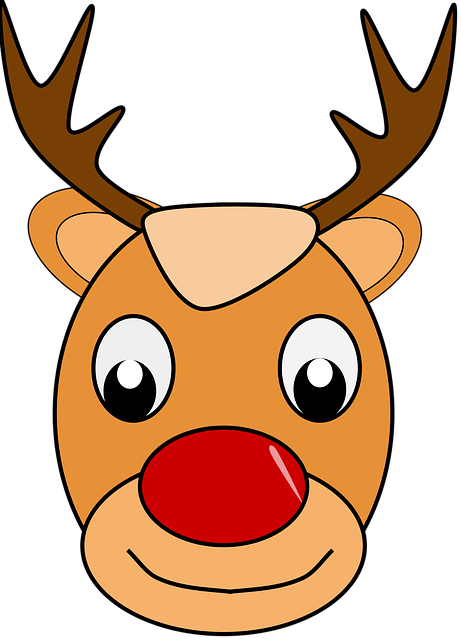 Free Vector Graphic Deer Rudolph Santa Claus Free