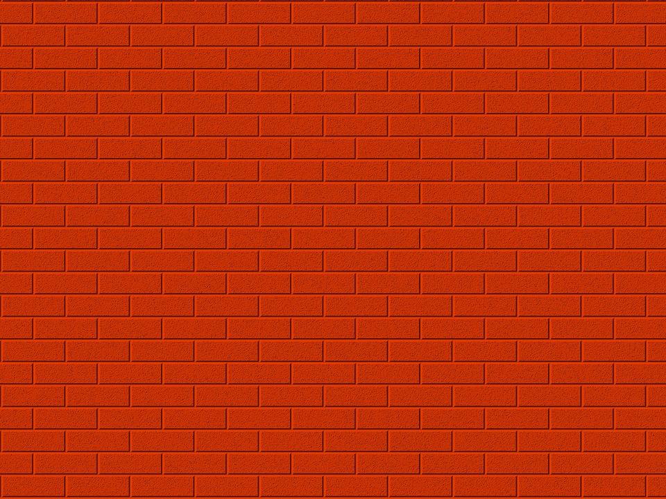 Mur de brique rouge - Mur rouge ...