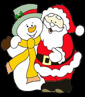 Święty Mikołaj, Bałwan, Wesołych Świąt