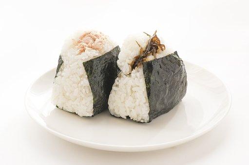 おにぎり, 食物, 食事, 日本, 食べ物, 和食, 日本料理