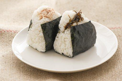 おにぎり, 食物, 食事, 日本, 食べ物, 和食, 日本料理, 鮭, 昆布