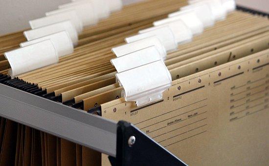 Hanging Files, Filing Cabinet