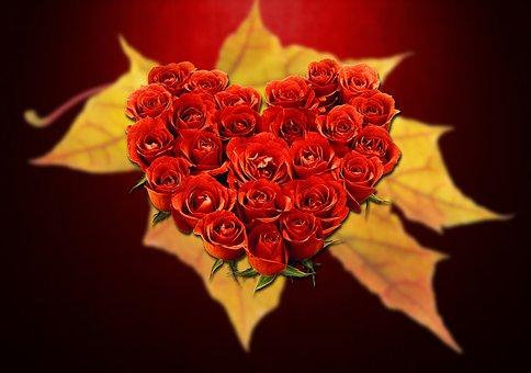 Amour, Coeur, Saint-Valentin, Rouge
