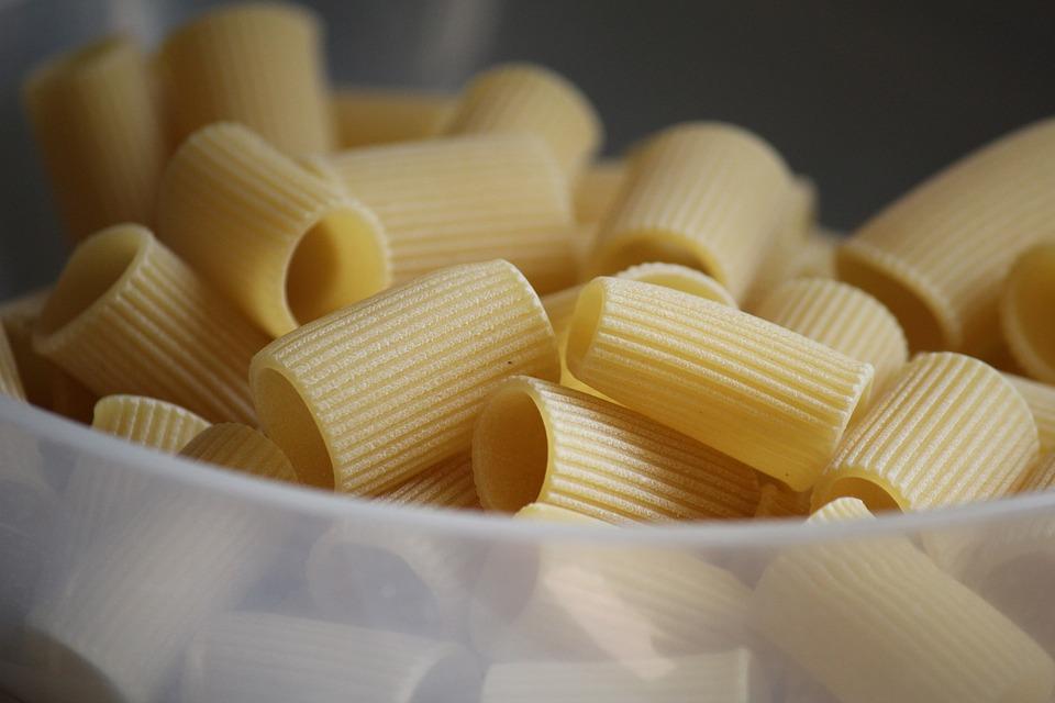 Pasta, Rigatoni, Mangas Cortas, Italia, Alimentos