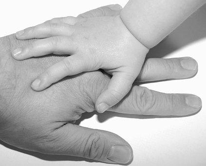 Hände Kinder Vater Kind Kindheit Finger Ju