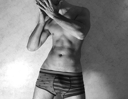 Hombre, Sexy, Cuerpo, Desnudo, Íntimo