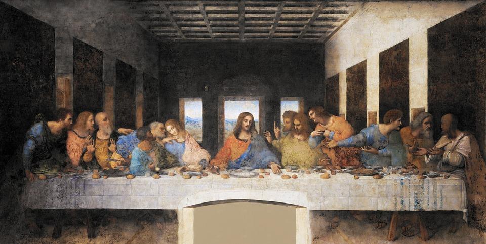 The Last Supper, Leonardo Da Vinci, Jesus, Fresco
