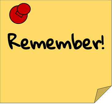 Reminder, Note, Sticky Note, Reminder