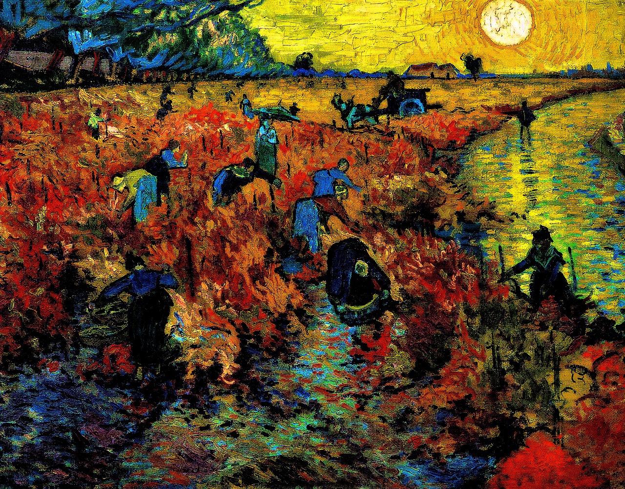 """""""O Vinhedo Vermelho"""" - Van Gogh."""