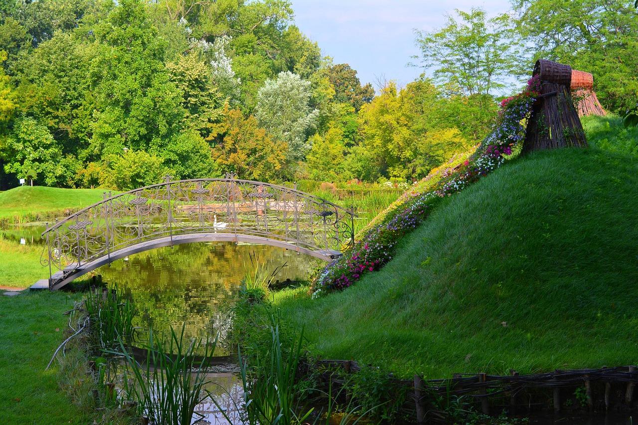 цветные фотографии красивых мостиков в парках уже многое умеет