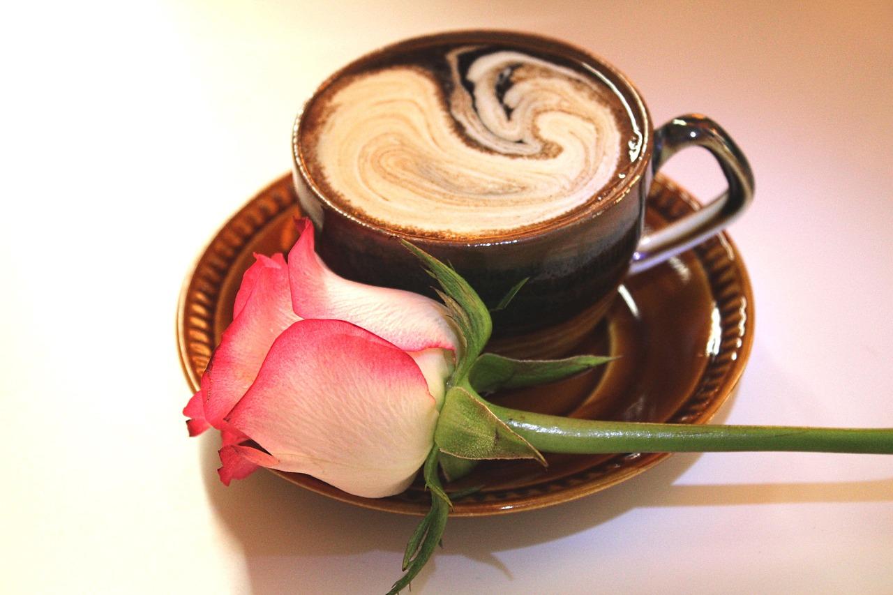 Роза и кофе картинки