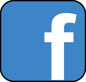 Facebook, Icon, Blau, Social Media, Weiß