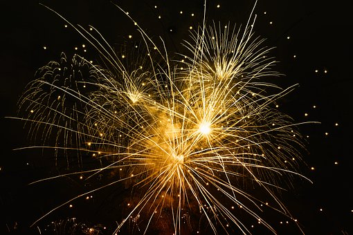 Fireworks, New Year'S Day, Year
