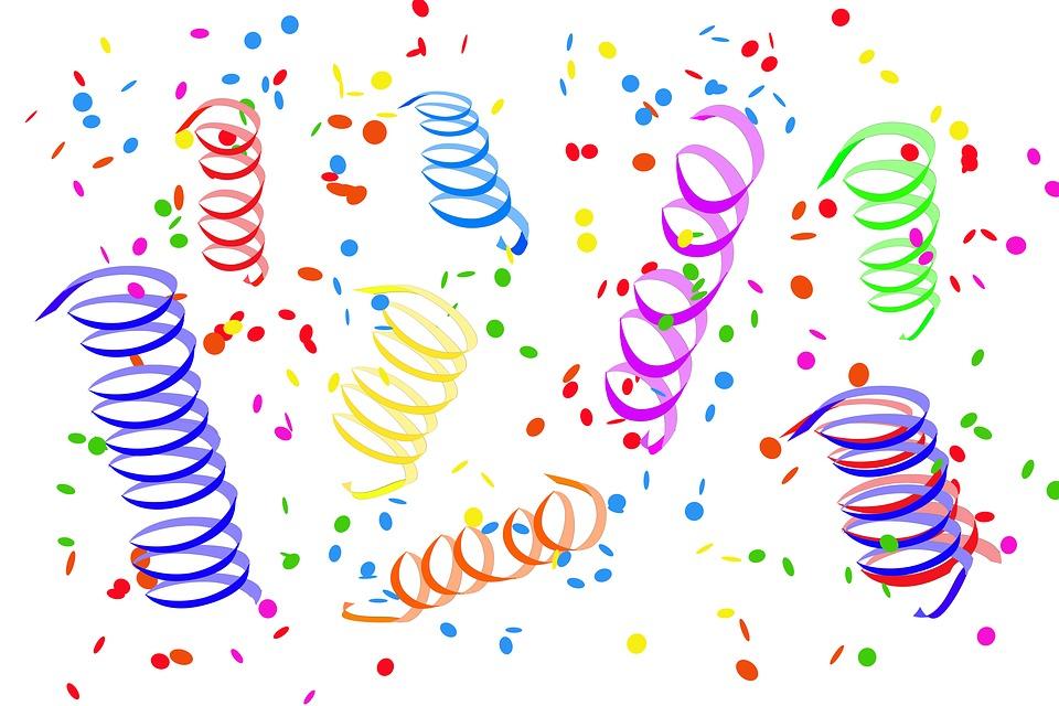 Konfetti Luftschlangen Party Kostenloses Bild Auf Pixabay