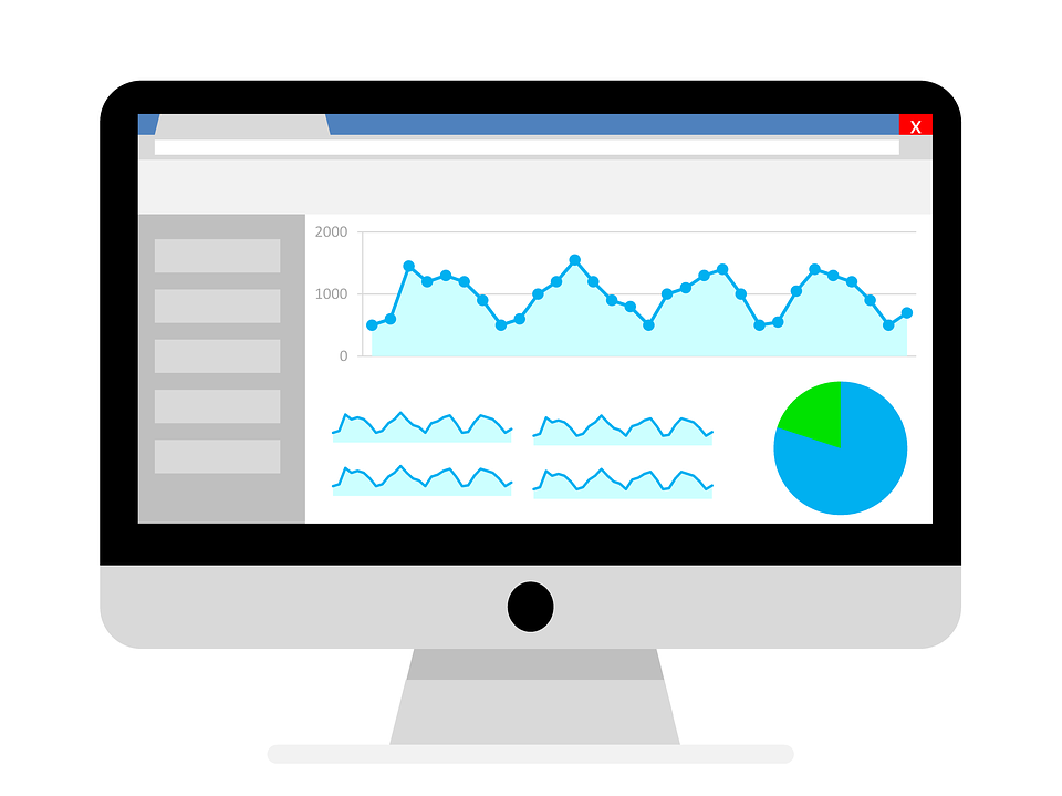 Vector image depicting a traffic report from Google Analytics
