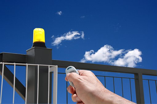 Hand With Remote Control, Automatic Gate