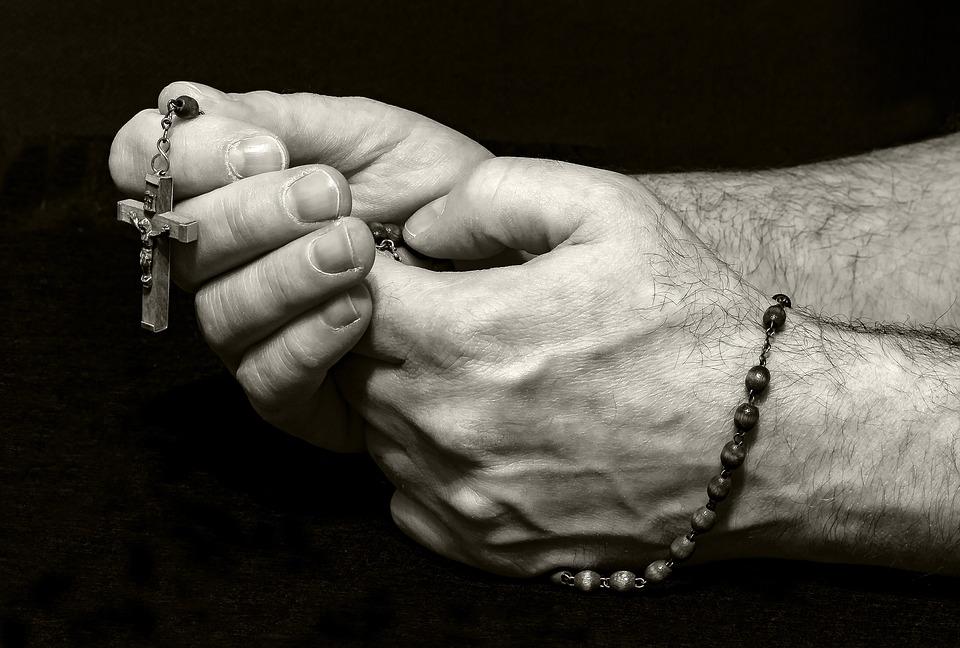 Prayer, Pray, Rosary, Hands, Religion, Faith, Cross