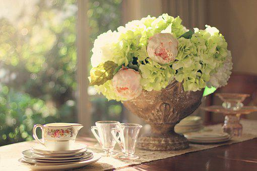 Table Setting, Vintage Dishes