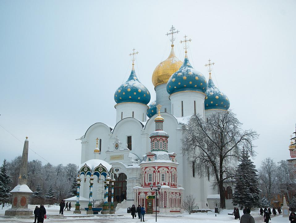 Russie, Serguiev Possad, Monastère, Othodoxe, Coupoles