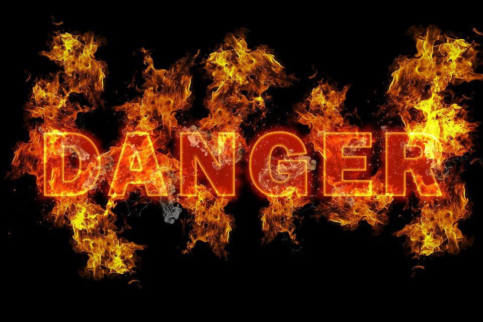 危険, 火, リスク, 記号, 警告