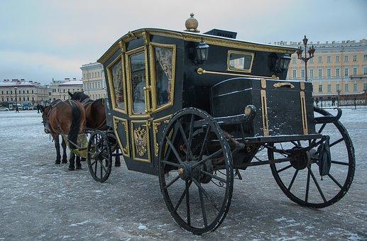 Russia Saint-Petersburg Palace Square Coac
