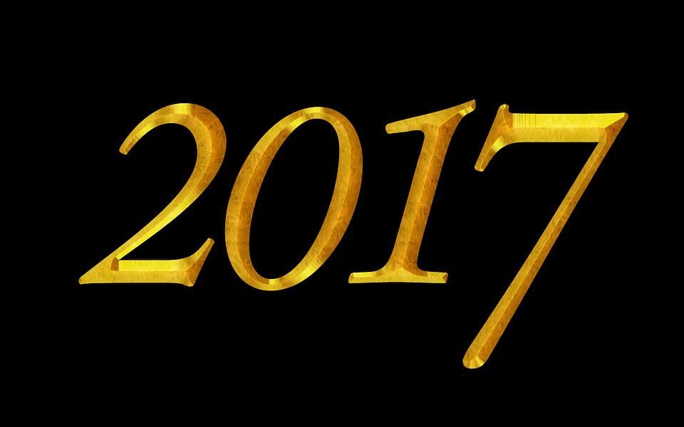 new year 2017 year new gold calendar date golden