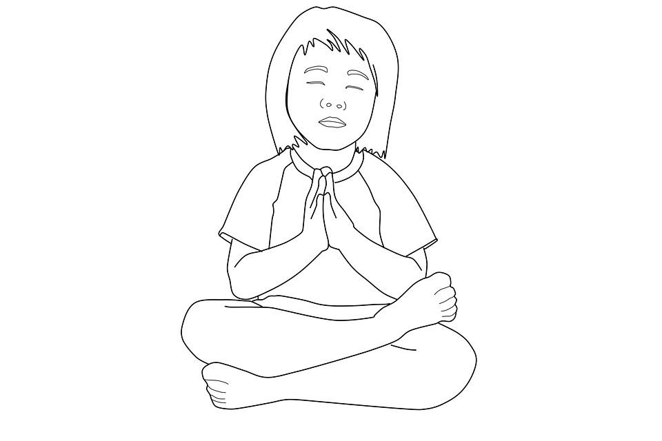 Praying Boy Coloring Page Free Image On Pixabay