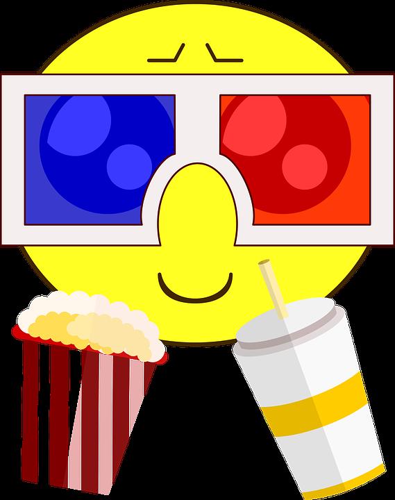 free vector graphic cinema icon 3d smileys popcorn