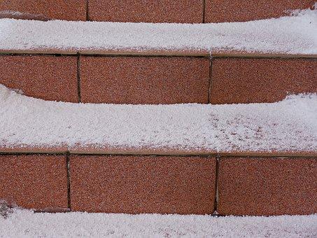 Winter, Snow, Stairs, December