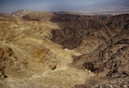 Dead Sea Timna Red Arava Wide Brown Canyon
