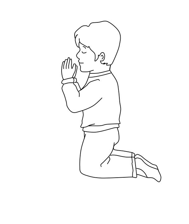 Menino Orando Desenho Para Colorir Imagens Gratis No Pixabay