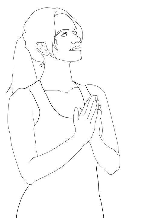 Dua Kadın Boyama Evanjelik Tasarım Pixabayde ücretsiz Resim