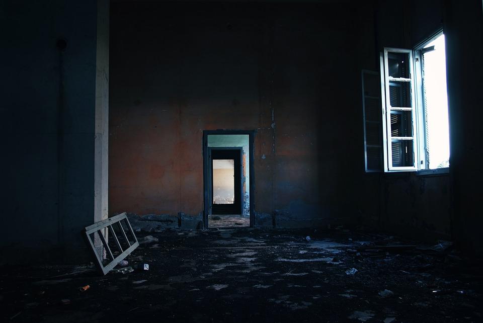 廃墟, 都市, 破壊, 建物, 破損しています, 破棄, れんが, 壁, 台無しに, 残骸, 屋外