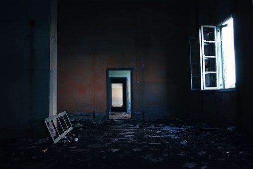 廃墟, 都市, 破壊, 建物, 破損しています, 破棄, れんが, 壁