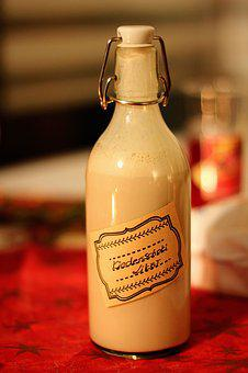 Christmas, Alcohol, Liqueur, Bottle, Diy