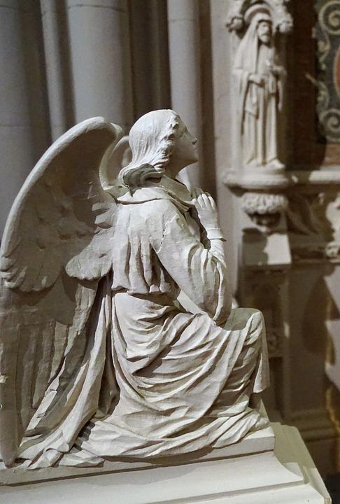 天使, 教会, ニューヨーク, 神聖な, 信仰, 宗教, ガブリエル, 目の猶予Catherdral, 神