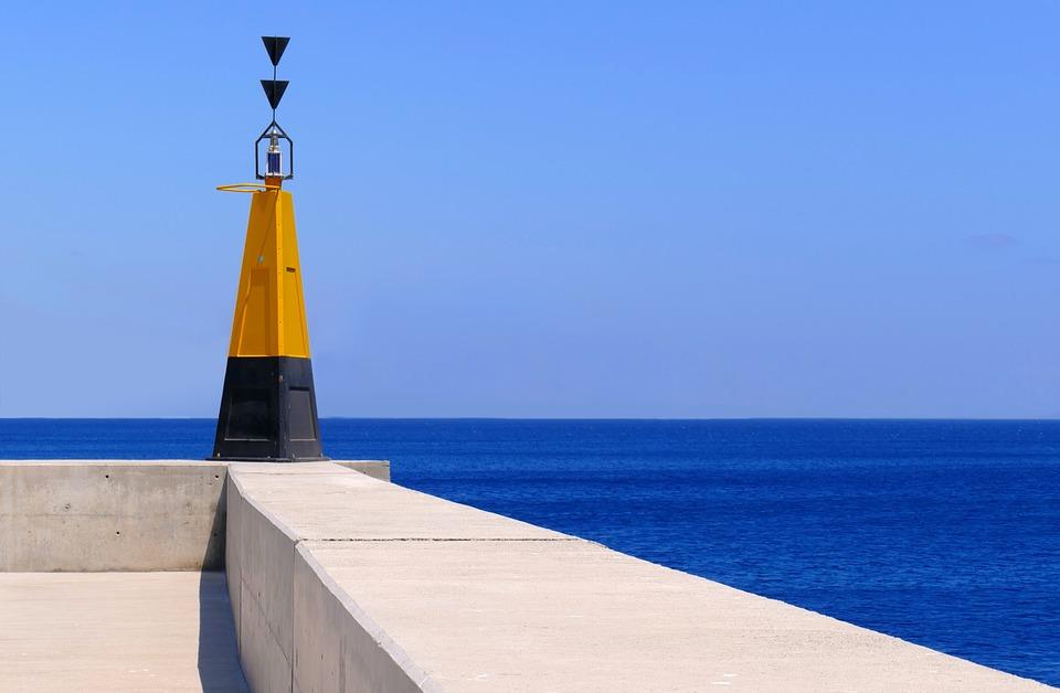 ランサローテ島, 文字, 昼標です, 槐, 信号, 水, 海, アーキテクチャ, 湖, 船, 塔, 出荷