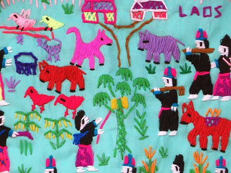 Laos, Folk Art, Embroidery