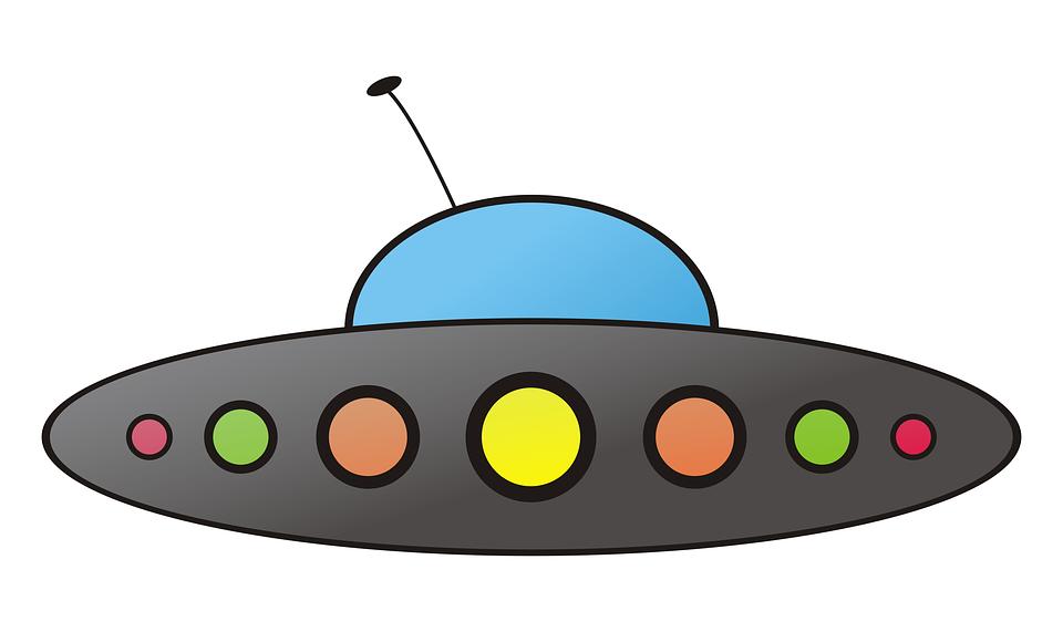 Рисунок летающей тарелки цветной