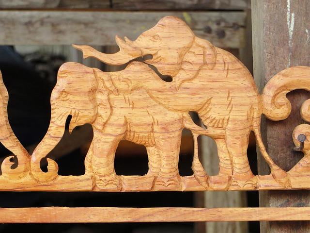 Free Photo Laos Sculpture Elephant Rascally Free