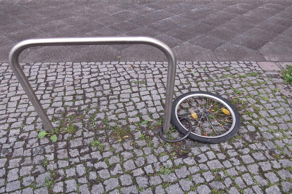 Rad, Angeschlossen, Fortbewegungsmittel, Radfahren