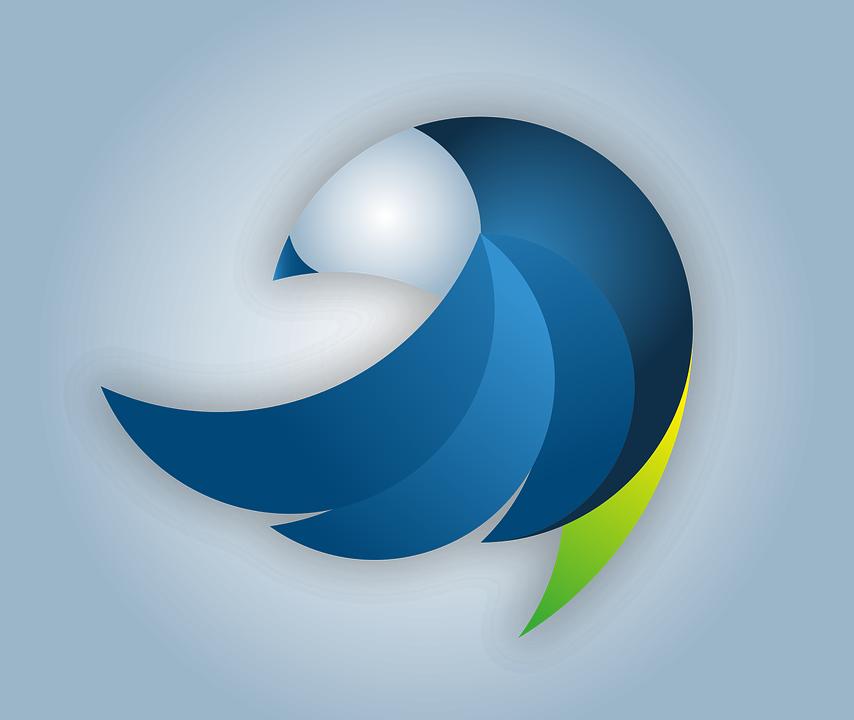 Home Design 3d Youtube: Logo Bird Vector · Free Vector Graphic On Pixabay